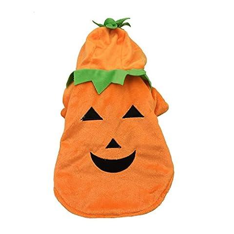 Gros Chien Costumes Pour Halloween - Costumes Hoodie Manteau d'Halloween Citrouille pour Chien