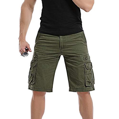Männer Casual Pure Color Outdoor Pocket Strand Arbeitshose Cargo Shorts Hose Outdoor Taschen Strand Arbeit Hosen Cargo Pant 3-pocket-cargo