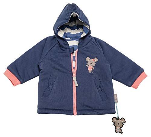 Sigikid Baby - Mädchen Wendejacke, Baby Jacke, per Pack Blau (Costal Fiord Melange 284), 92 (Herstellergröße: 92)