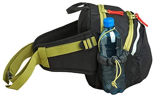 Jandiklee Große 9 Liter Hüfttasche mit Flaschenhalter zum Wandern, Fahrradfahren, Langlauf, Klettern, Hundetraining
