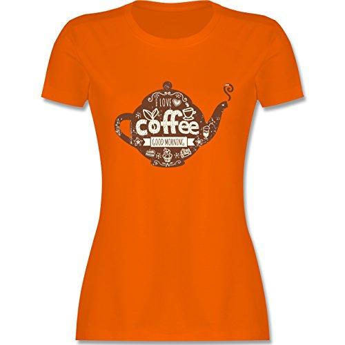 Statement Shirts - I Love Coffee Kanne - tailliertes Premium T-Shirt mit  Rundhalsausschnitt für