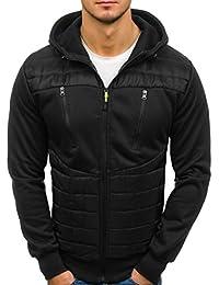 BOLF – Veste à mi-saison – À capuche – Fermeture éclair – Bouton-pression – Style sportif – Blouson – Homme 4D4