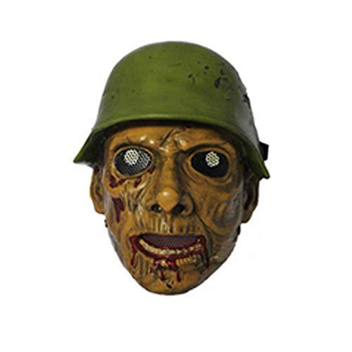 YaPin Halloween Maskerade Fiberglas Maske Zweiter Weltkrieg Pilot CS Feldschutzmaske Taktische Maske (Make-up Zweites Halloween 30)