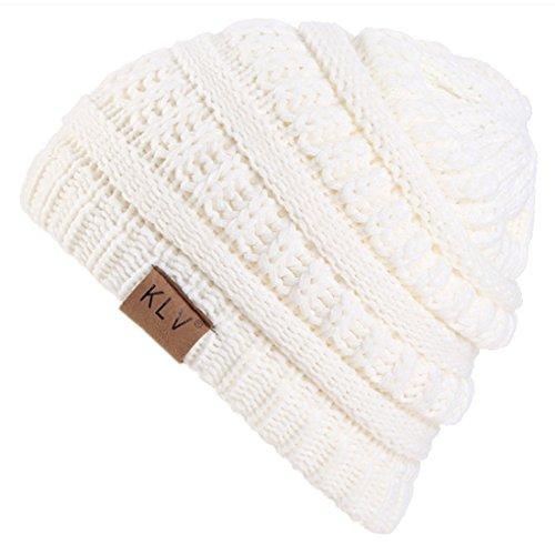 Belsen Kind Slouch Beanie Strick Mütze Wintermütze Skull Cap (weiß) (Baumwoll-skull-cap Weiße)
