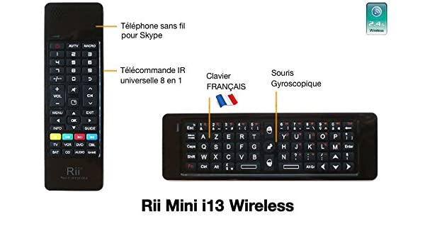 Rii i13 Mini Wireless Keyboard (AZERTY) - Mini Keyboard with Gyro
