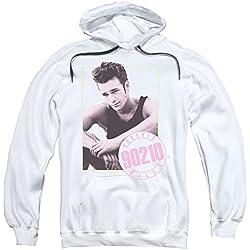2Bhip Beverly hills, 90210 Maglietta n tv drama serie dylan manifesto hoodie per Uomo Piccolo bianca