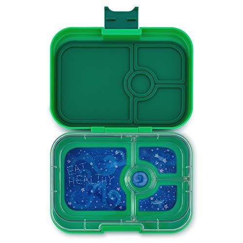 Yumbox Panino Lunchbox (Terra Green, 4 Fächer) - mittelgroß   Brotdose mit Trennwand Einsatz   Brotbox für Kindergarten Kinder, ()