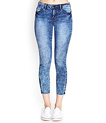 Ansh Fashion Wear Women's Denim Jeans - Contemporary Regular Fit Cloud Wash Denims for Women