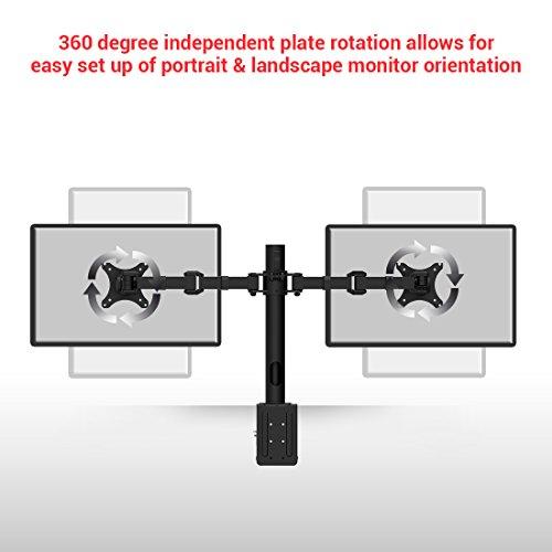 Fleximounts D1D Monitorhalter Tischhalterung Standfuß mit 2 Armen für 2 Monitore 10