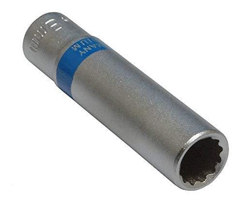 Aerzetix: Steckschlüssel Einsatz Nuss 12 kant 1/4 8 mm tief lange professionelle hochwertige erweitert Stahl CrV