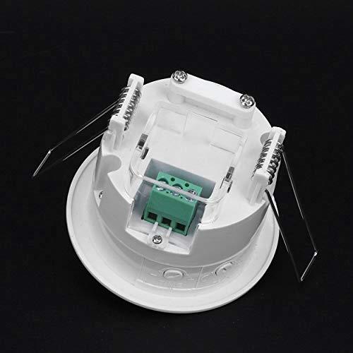 Lorenlli 1200W Bajo Consumo de energía Sensor de ocupación PIR Interruptor de...