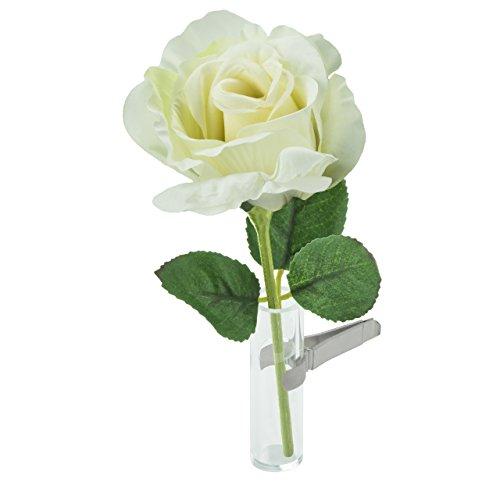 Sandini Autovase für künstliche Blume, eine kultige Dekoration für den Innenraum, große Auswahl, inkl. Beutel mit Organza,kann auch für eine natürliche Blume verwendet werden, geeignet für jedes Fahrzeug, das beste Geschenk für Valentinstag, Muttertag, Geburtstag, Abschluss usw. (Kann Jetzt Frauen)