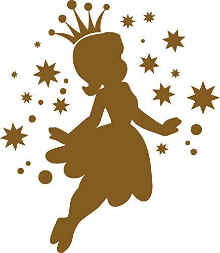 GRAZDesign Wanddeko Mädchenzimmer Schönes Aufkleber über Babybett Kinderbett - Kinderzimmer Deko Mädchen Sternenhimmel - Wandtattoo Kinderzimmer Mädchen / 34x30cm / 730143_30_091 (Violett 091)
