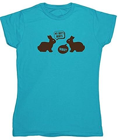 HippoWarehouse - T-shirt - Femme X-Large - bleu - Medium