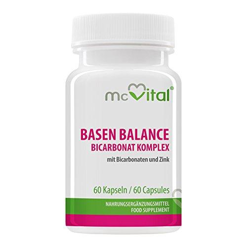 Basen Balance – Bicarbonat Komplex - mit Bicarbonaten und Mineralstoffen - 60 Kapseln
