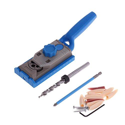 Teabelle Pocket Loch Jig System Holz Doweling Schreinerei Bohrer Guide DIY Kit für Holzarbeiten 25Stück -