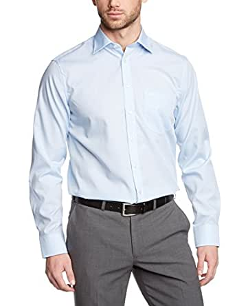Seidensticker Herren Regular Fit Business Hemd KENT, Gr. XXXXX-Large (Herstellergröße: 51), Blau (hellblau 48)