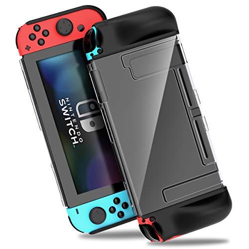 Hülle für Nintendo Switch, BEBONCOOL TPU Schutzhülle für Jon Con Controller Case Cover mit Spiel Karten Steckplätze Anti-Scratches & Anti-Shock Schutz Tasche Zubehör für Nintendo Switch Konsole (Tasche Scratch-karte)