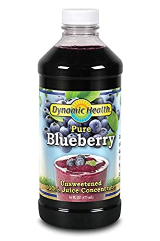 Dynamic Health, Jus de bleuets concentré, 100% pur, 16 oz (473 ml)