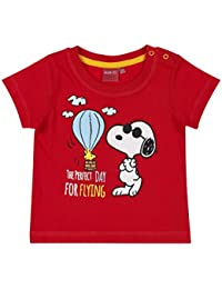 Snoopy Babies Boys Short Sleeve T-Shirt - Red