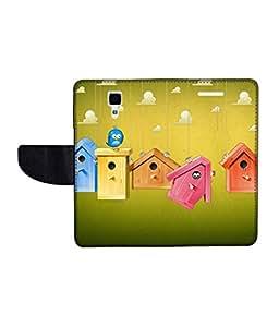 KolorEdge Printed Flip Cover For Redmi Xiaomi MI 4 Multicolor - (50KeMlogo10050XiaomiMI4)