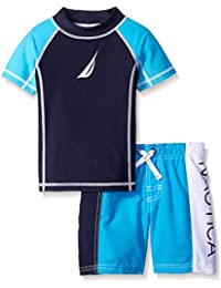 Nautica Boys' Rashguard Swim Set