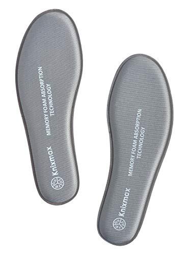 Knixmax Plantillas Memory Foam para Zapatos de Mujer y Hombre, Plantillas Confort Amortiguadoras Cómodas...