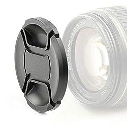 CELLONIC Objektivdeckel Vorderseite kompatibel mit Nikon AF-S 18-55mm G ED II, Nikkor 50mm 1.4, 200-400mm G ED VR II, AFS DX 35mm 1.8 (Ø 52mm - LC-N52), Snap On: Innengriff/Center Pinch