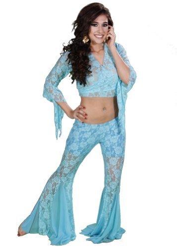 Dance Lace Hose & Top Kostüm-Set   Spitze It Up, türkis, S/M ()