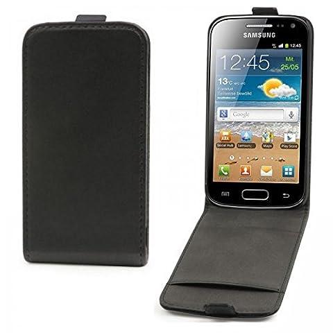NEUTRE Housse à clapet noire Classic pour Samsung Galaxy Ace 2 i8160