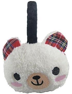Para niña diseño de animales orejeras diseño invierno cálido y Earwarmer desgaste de orejeras protectoras para...