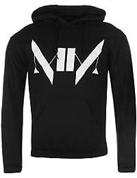 Marilyn Manson officielle Monogramme Pull à capuche pour homme Noir Sweat à capuche
