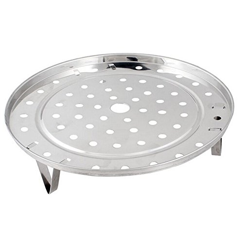 ZHOUBA Stainless Steel Steamer Rack Insert Stock Pot Steaming Tray Stand Cookware Tool size 19.5cm (Silver)
