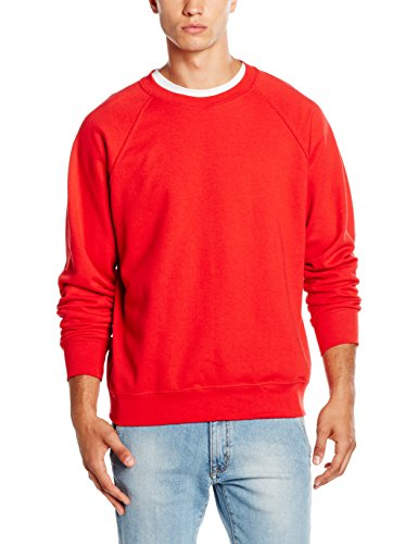 Fruit of the Loom Herren, Sweatshirt, Raglan Sweatshirt SS024M Rot - Rot