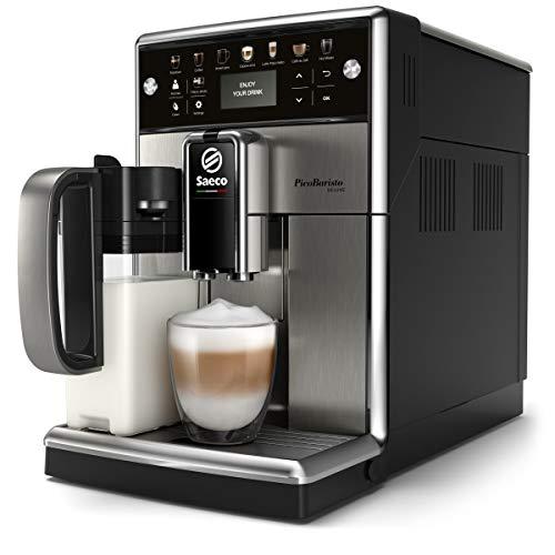 Saeco - Cafetera (Independiente, Máquina espresso, 1,8 L, Granos de café, De café molido, Molinillo integrado, Negro, Acero inoxidable)