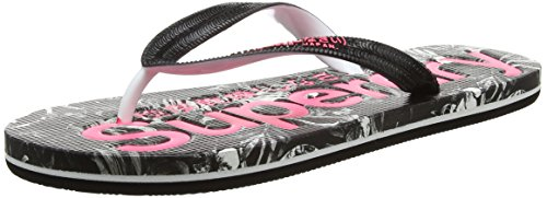 Superdry Aop, Tongs Femme Multicolore (Marbelled Black Hawaiian)