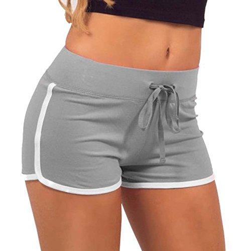 Yalatan Damen Shorts Sommer Sports Kurze Hosen Badeshorts Schwimm Running Yoga Hose