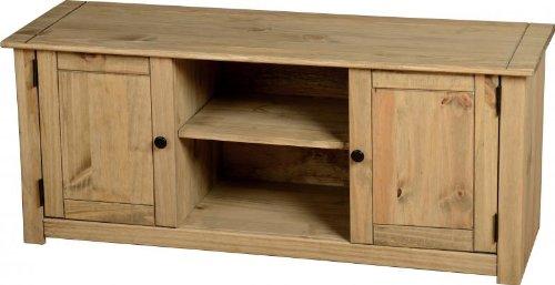 mueble-para-tv-de-pantalla-plana-2-puertas-y-1-estante-pino-con-cera-natural