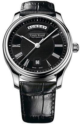 Louis Erard Heritage Collection Swiss automático negro Dial hombres reloj de 67258AA22. BDC02