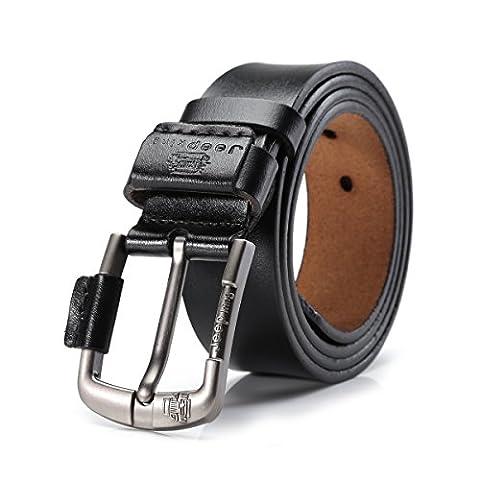 Tekon New Business Men Split Leather Belt 1.5