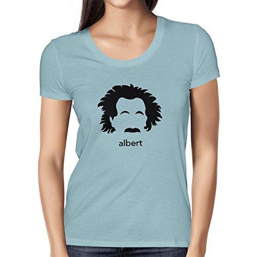 NERDO - Albert - Damen T-Shirt Hellblau
