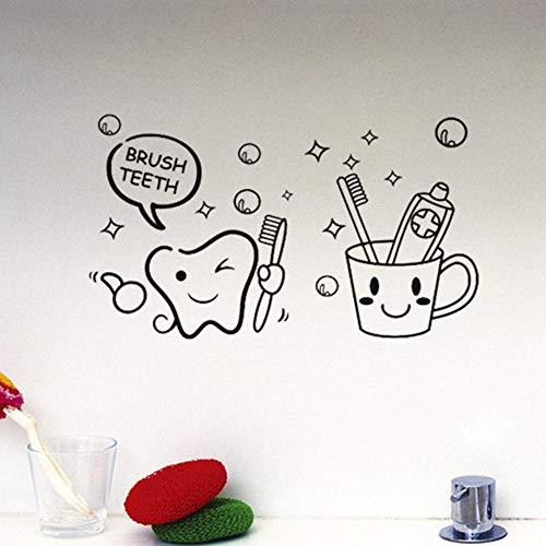 XCGZ Wandsticker Badezimmeraufkleber, Bürsten, Wandaufkleber, Hersteller, europäische und amerikanische Gerüchte, Wandaufkleber, englische Poesie, Bürsten