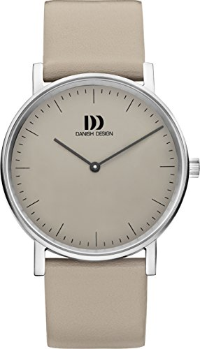 Danish Design Women's Quartz Watch with Grey Dial Analogue Display and Grey Leather Strap DZ120473