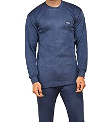Lux Cottswool Blue Thermal Round neck Mens Top size 90