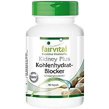 fairvital - Kidney Plus - 180 cápsulas vegetarianas de bloqueador de hidratos de carbono - Con cromo, alholva y café verde