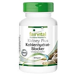 Kidney Plus Kohlenhydrat-Blocker - GROSSPACKUNG für 1 Monat - VEGAN - HOCHDOSIERT - 180 Kapseln - mit Chrom, Fenugreek und grünem Kaffee
