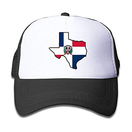 UUOnly Dominikanische Republik-Flaggen-Texas-Karte auf Kinderfernlastfahrer-Hut, Jugend-Kleinkind Baseballmütze