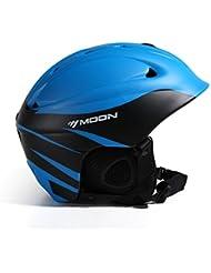HYF-Aegis Impacto-resistente ultraligera EPS de alta densidad integrado esquí de casco de otoño e invierno hombres y mujeres de chapa de doble bordo equipo de protección de esquí deportes casco de esquí al aire libre , C , L