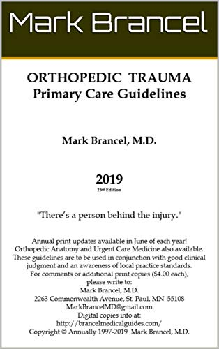 Orthopedic Trauma Primary Care Guidelines (2019, 23rd Annual Edition, Version 1) (English Edition)