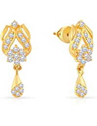 Malabar Gold and Diamonds 22k (916) Yellow Gold Stud Earrings
